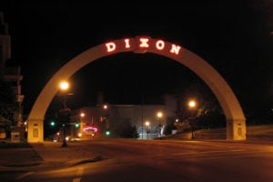 Lee County IL Dixon Arch