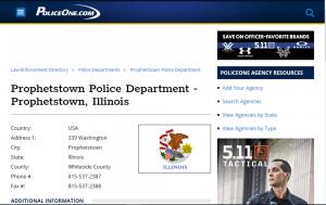 Prophetstown IL Police