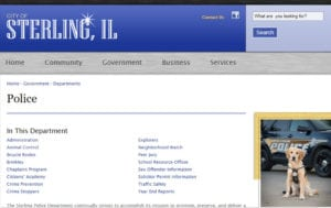 Sterling IL Police
