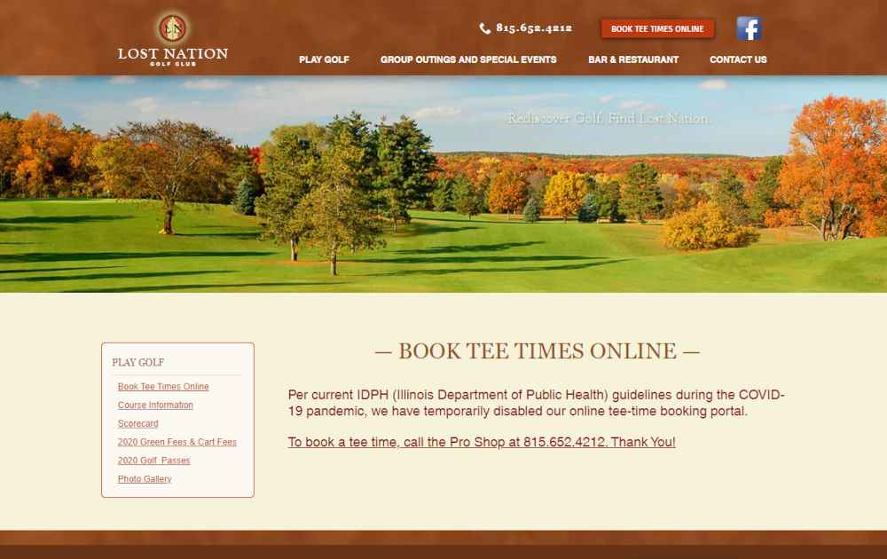 Lost Nation Golf Course Tee Times